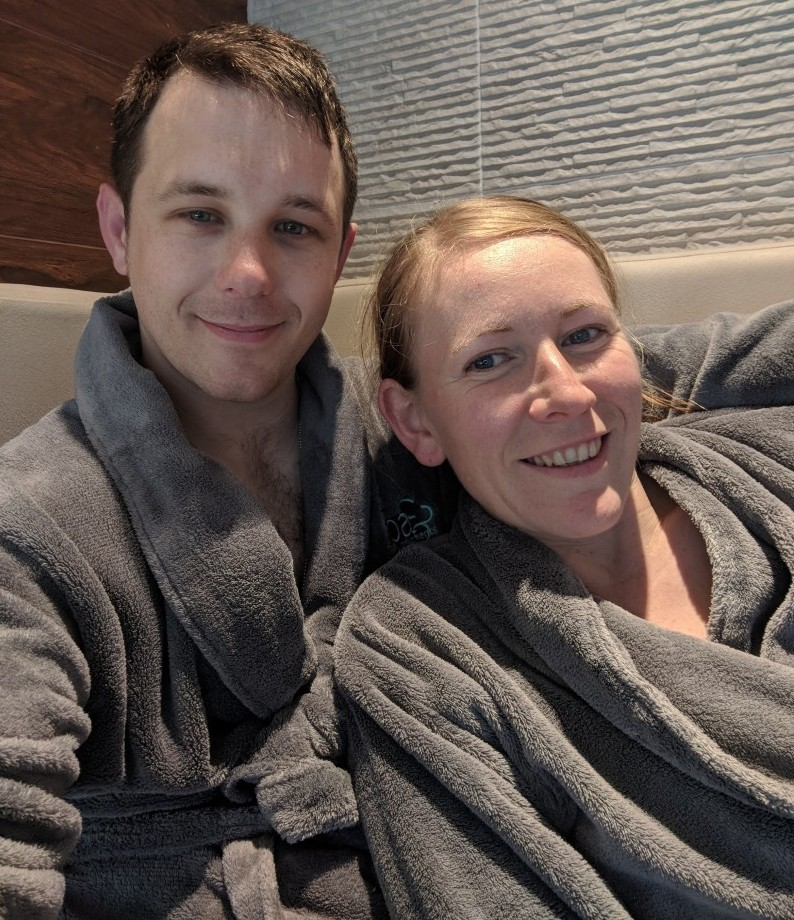 Birthday spa day with Dan