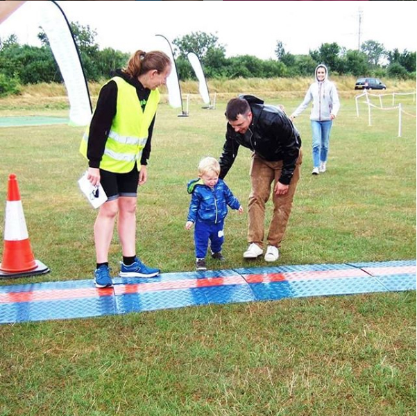 Oscar at his first Toddler dash at the Welly 5