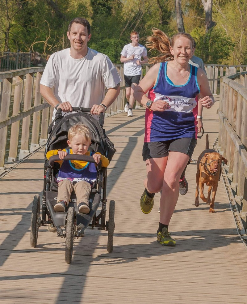 Kettering parkrun with Dan, Oscar and the buggy