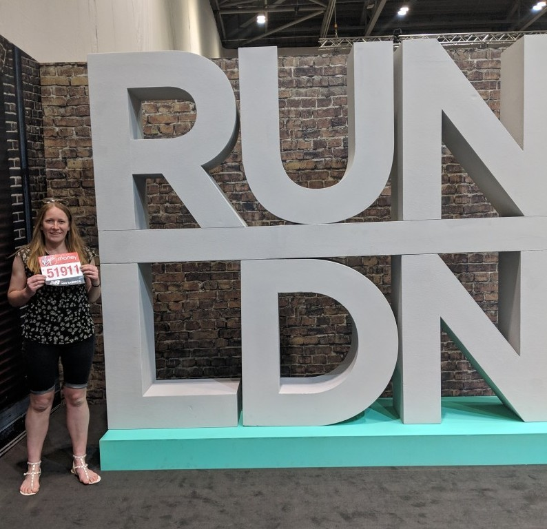 Run LDN sign at the London Marathon expo