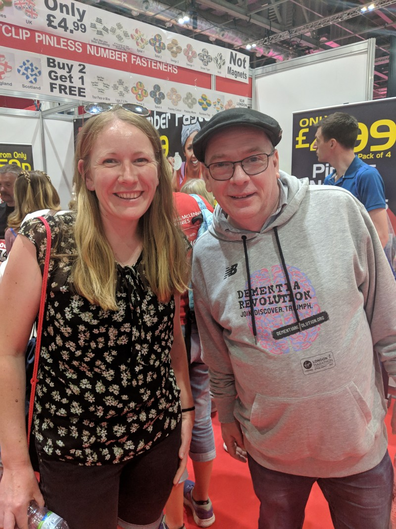 At the London Marathon Expo with Adam Woodyatt