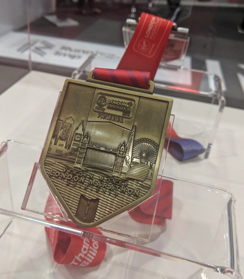 London Marathon medal 2019