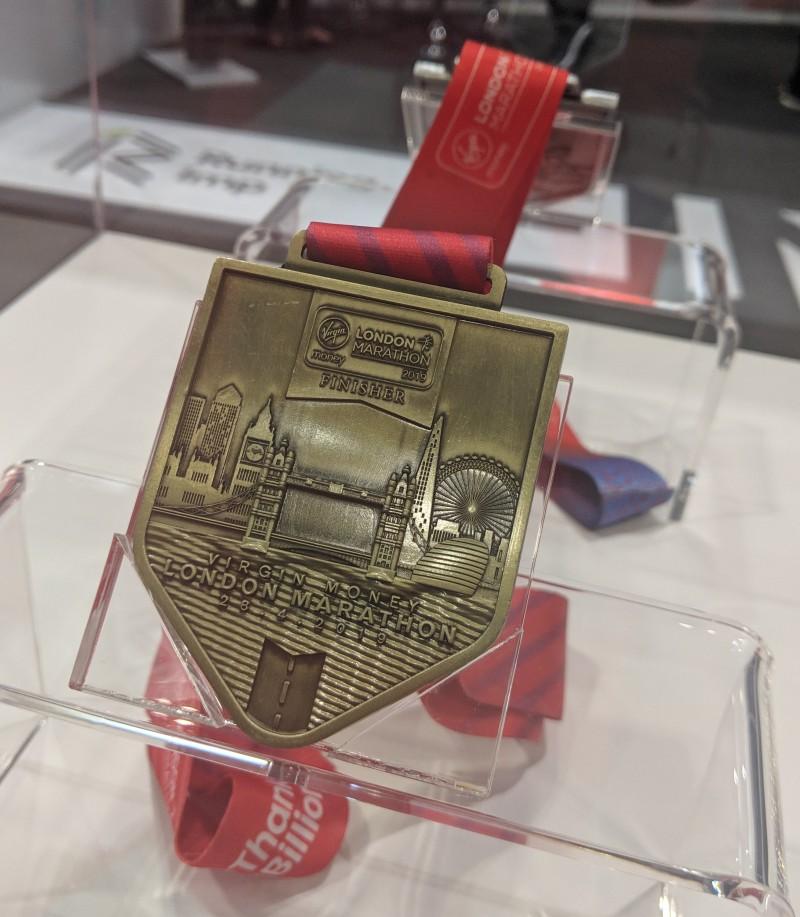 London Marathon medal 2019