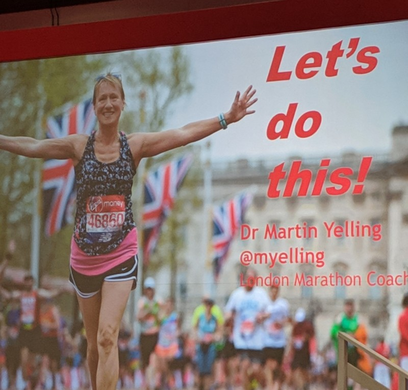 Martin Yelling at the London Marathon 2019