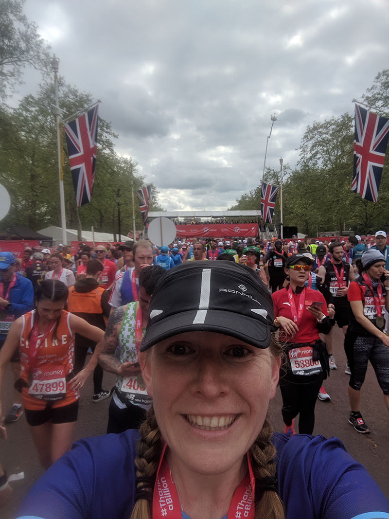 Finishing the London Marathon
