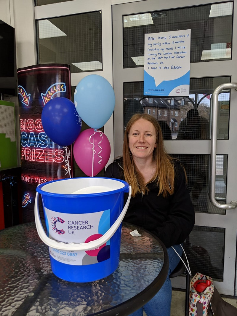 Fundraising for Cancer Research UK at the Co-op