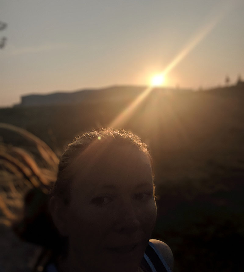 Me - early morning sunrise run