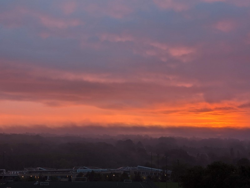 Weston Favell sunrise from the roof